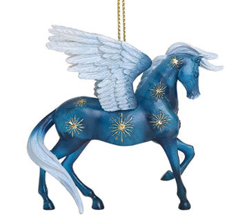 trail of painted ponies night flight winged horse ornament alt view