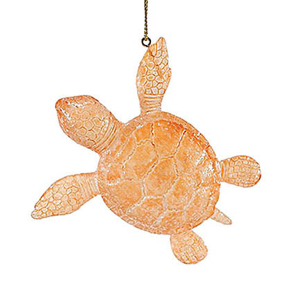 dept 56 coral faux sea glass turtle ornament