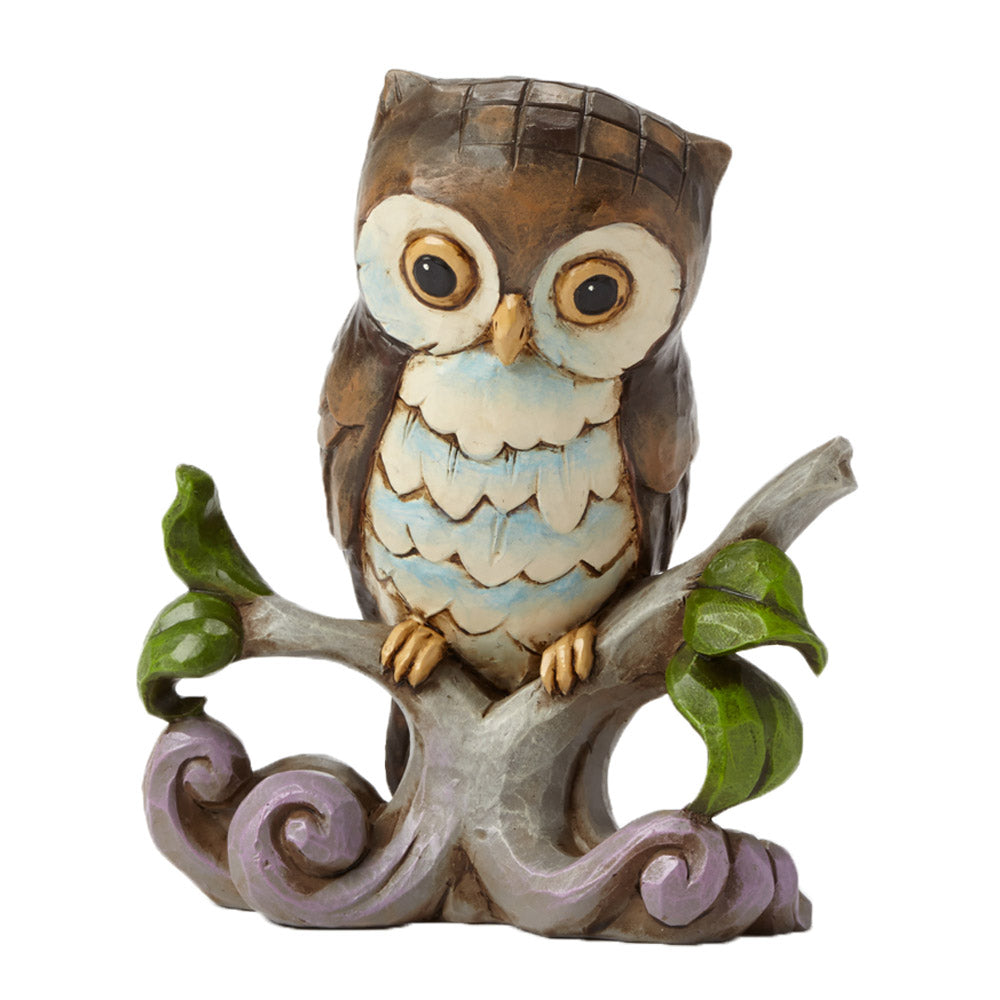 jim shore mini owl on branch figurine
