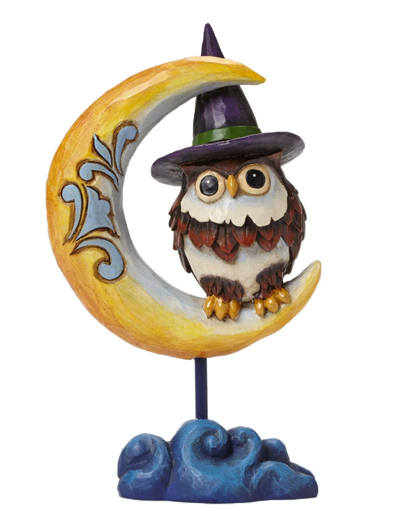 jim shore owl on crescent moon figurine