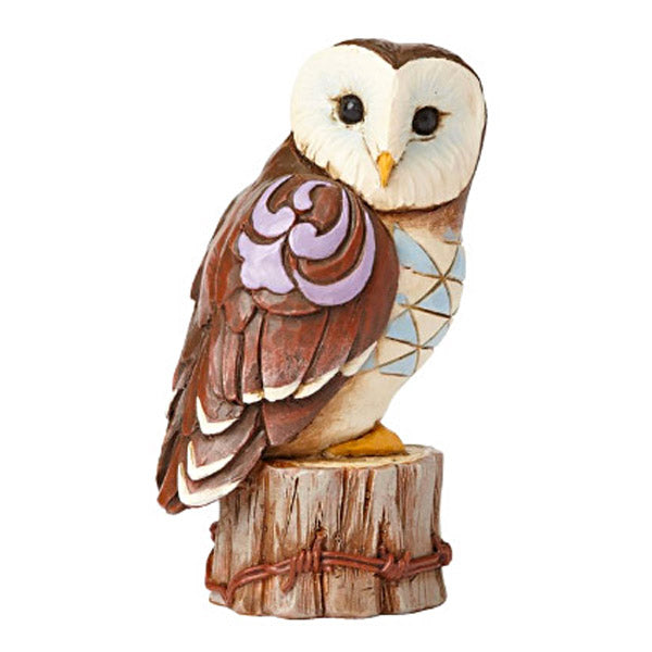 jim shore mini owl on stump