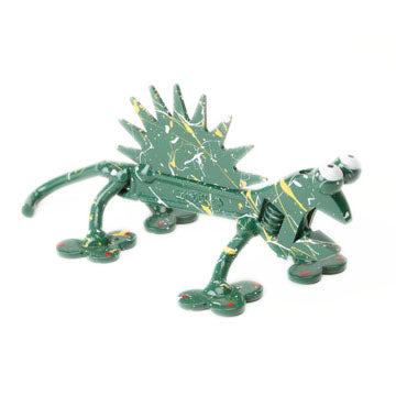 painted crescent wrench chameleon figurine