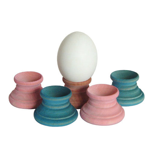 pastel wood egg holders