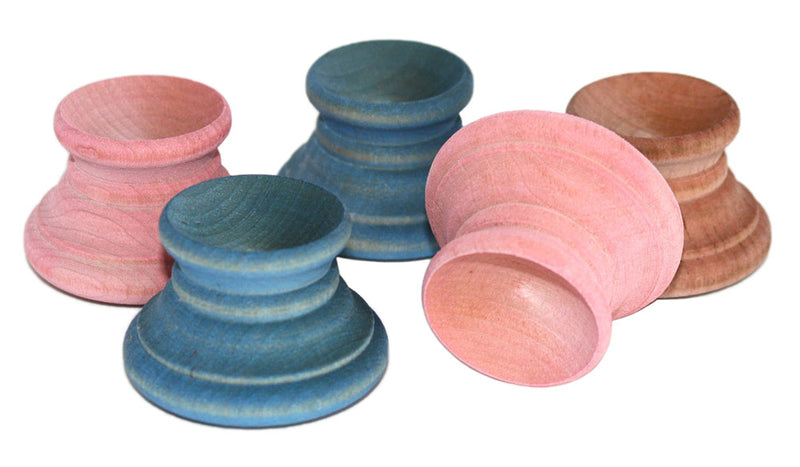 pastel wood easter egg cups