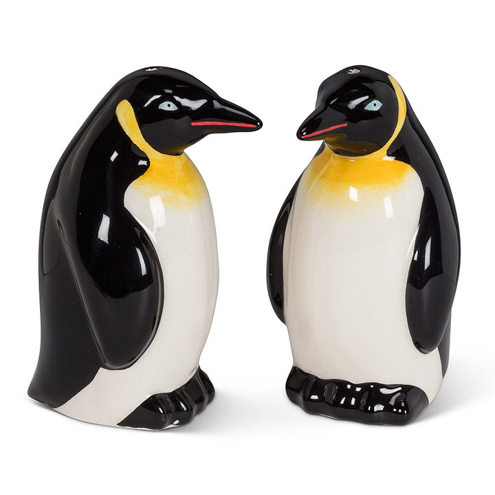 ceramic emperor penguin salt and pepper shaker set
