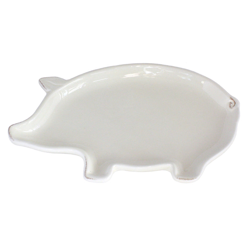 dolomite ceramic pig shaped plate