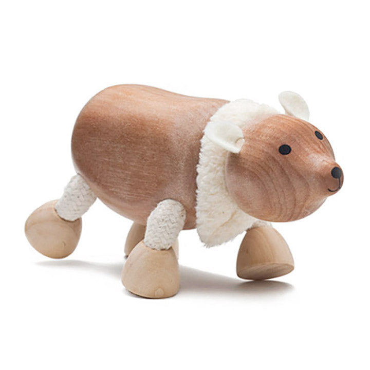 anamalz wooden polar bear interactive toy