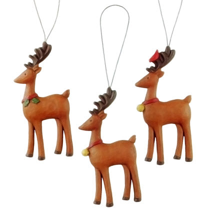 blossom bucket reindeer ornaments