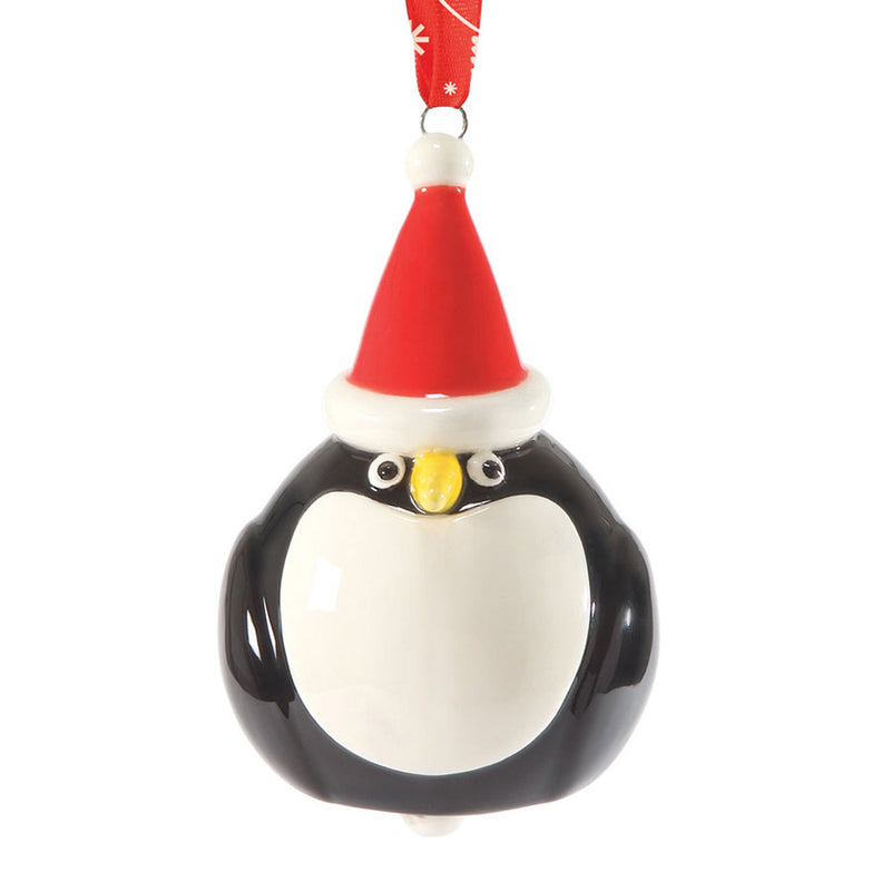dept 56 santa bird hanging penguin bell ornament