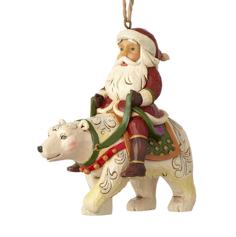 jim shore santa riding polar bear ornament