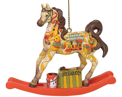 trail of painted ponies sant's workshop ornament