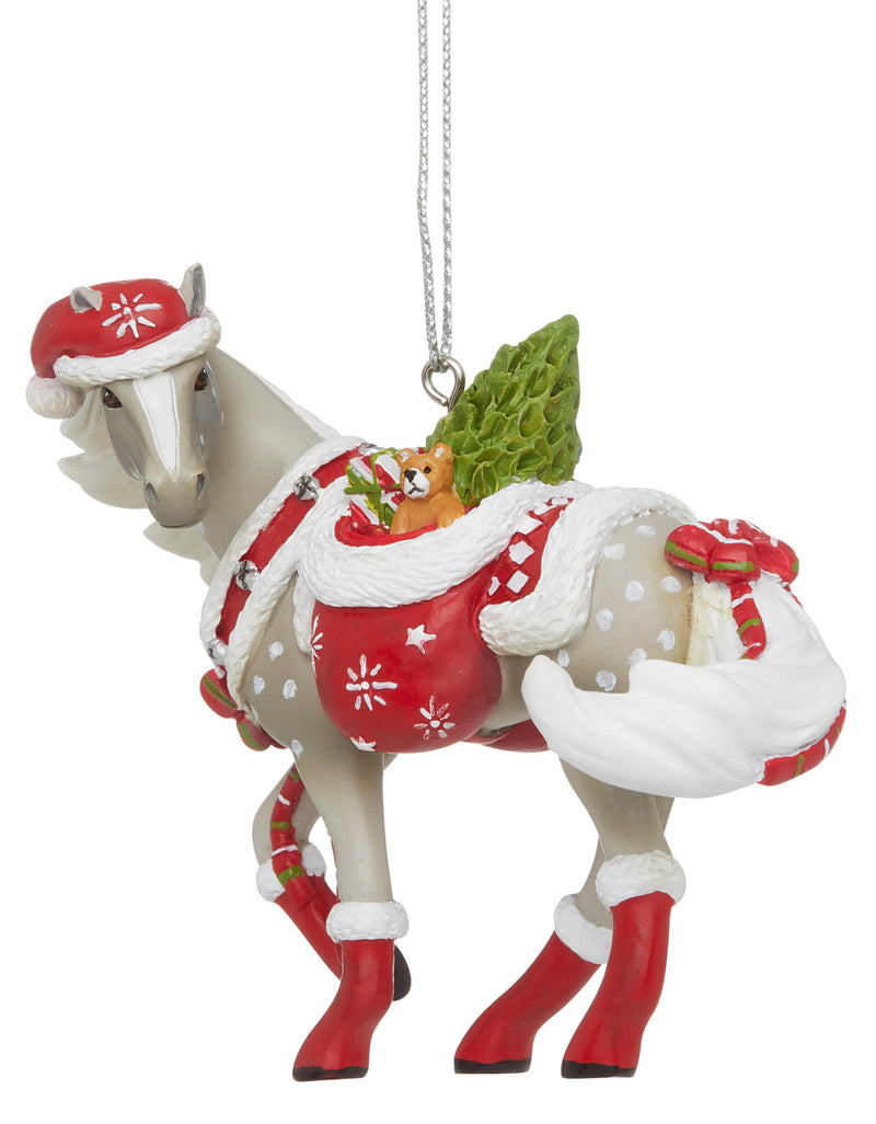 trail of painted ponies santas little helper christmas ornament