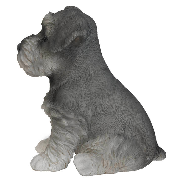 schnauzer puppy figurine side view