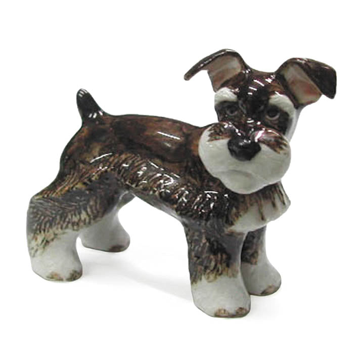 minature porcelain schnauzer figurine
