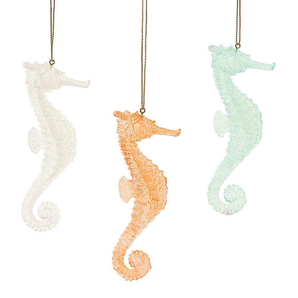 dept 56 faux sea glass seahorse ornaments