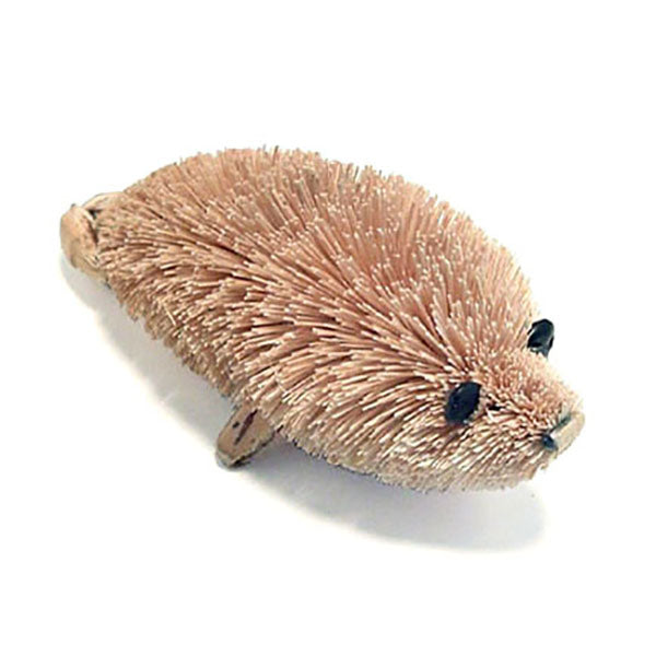bottle brush seal figurine