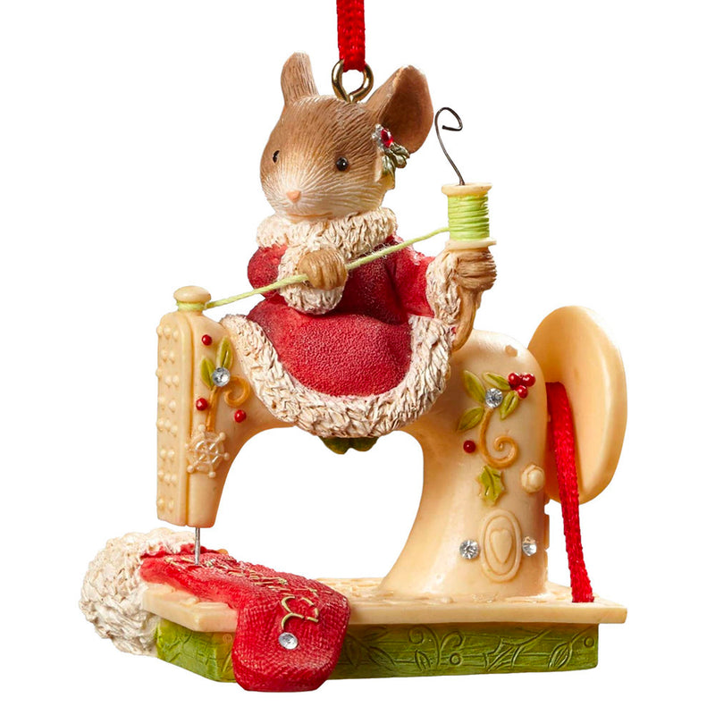 heart of christmas sewing mouse ornament