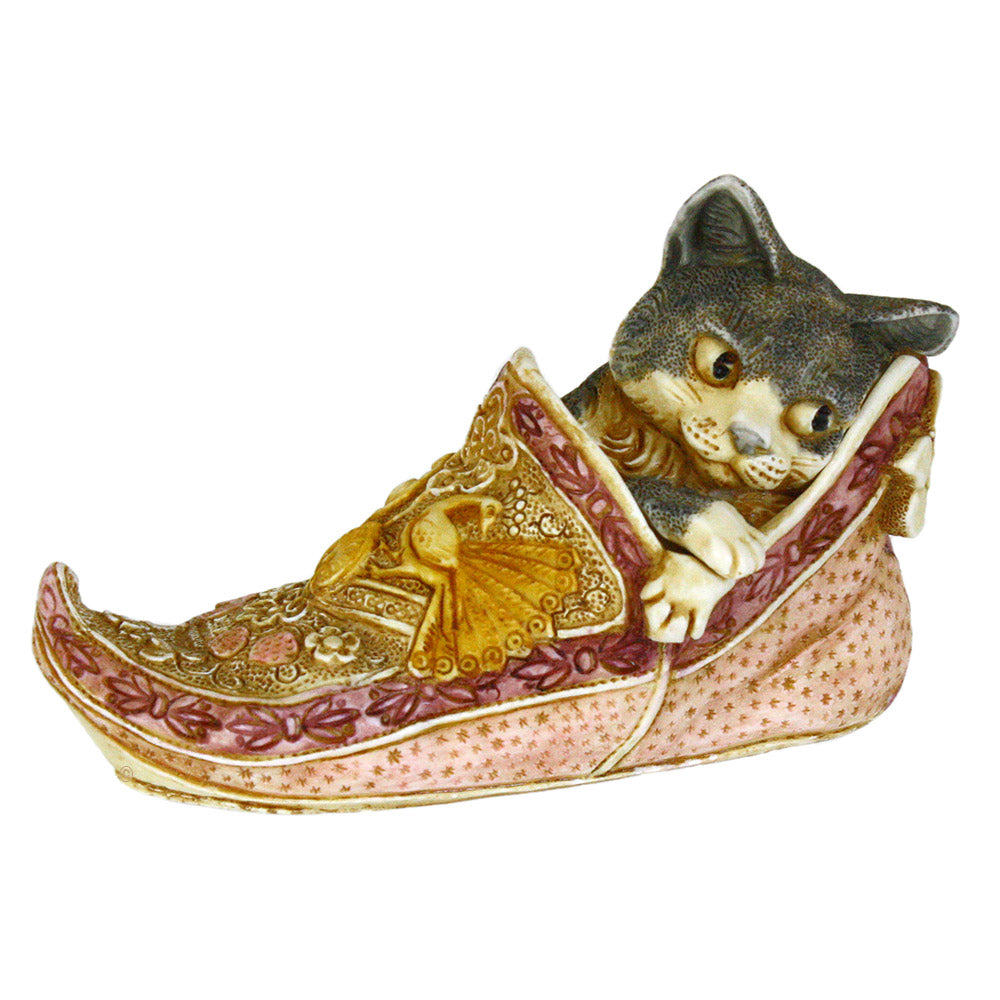 harmony kingdom sharazade cat in slipper