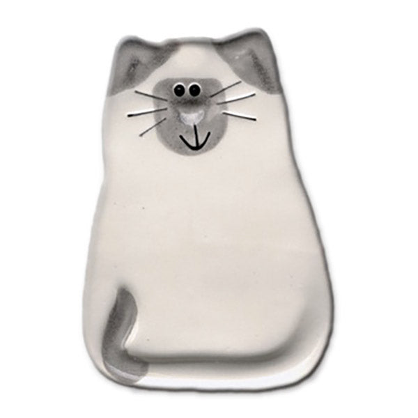 ceramic siamese cat magnet