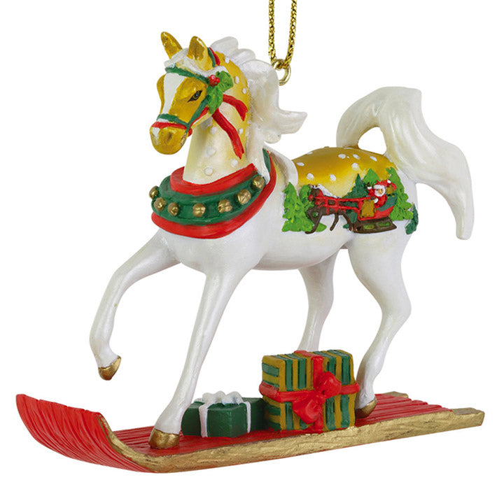 trail of painted ponies sleigh ride ornament