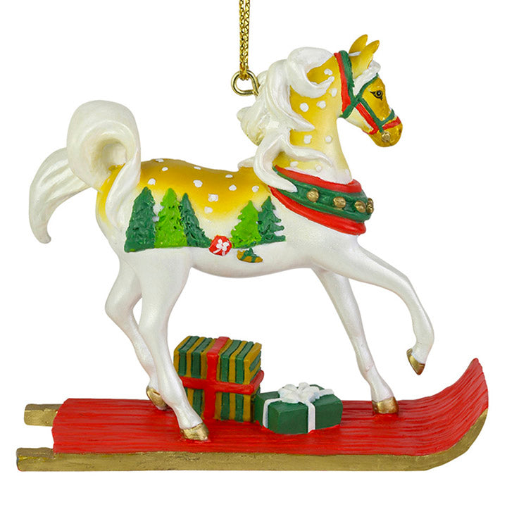 trail of painted ponies sleigh ride horse ornament