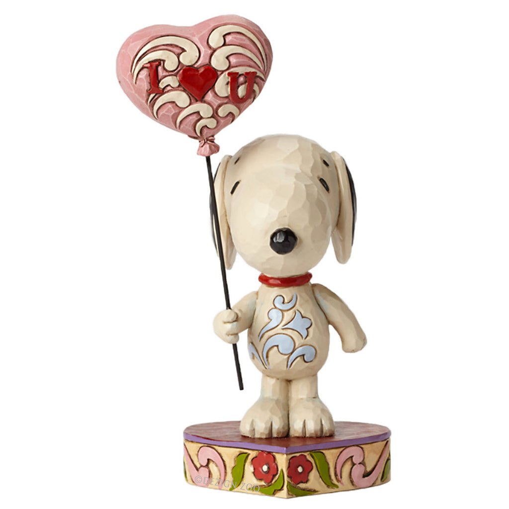 jim shore snoopy with I Love You balloon