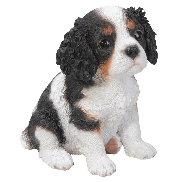 king charles spaniel puppy figurine side view