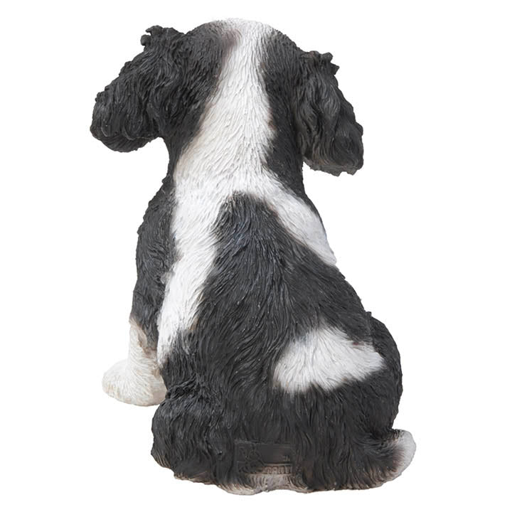 king charles spaniel puppy figurine back view