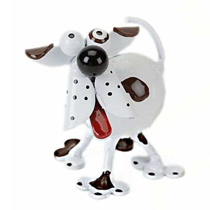 metal spoon sculpture spotted dog figurine