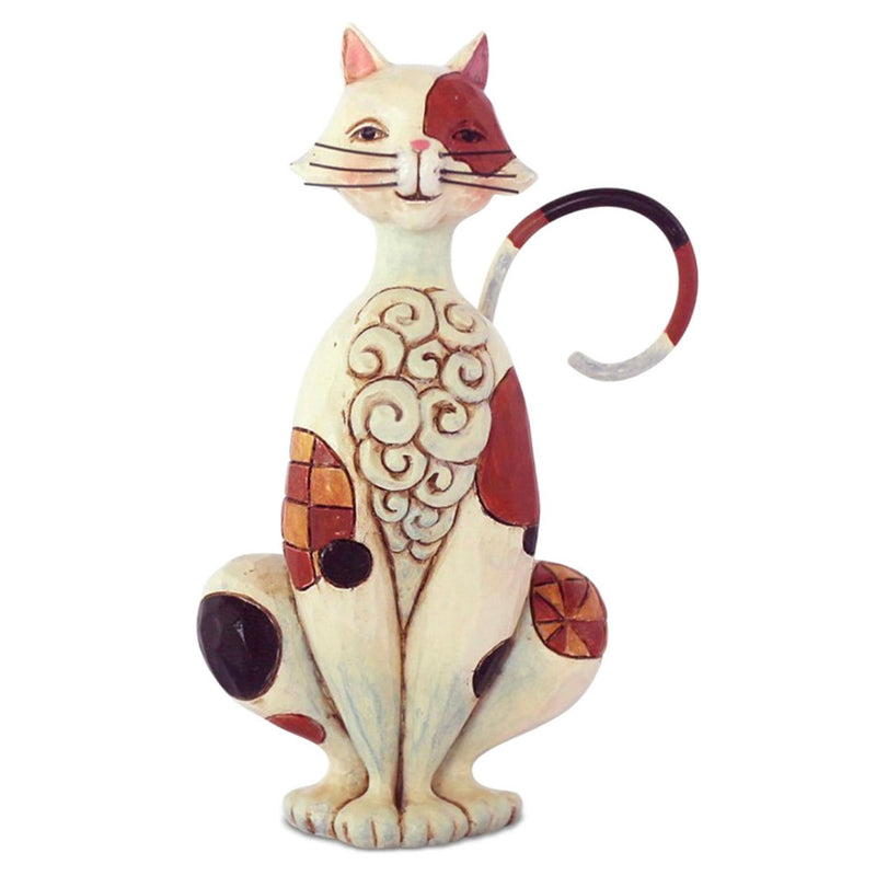 jim shore mini spotted cat figurine
