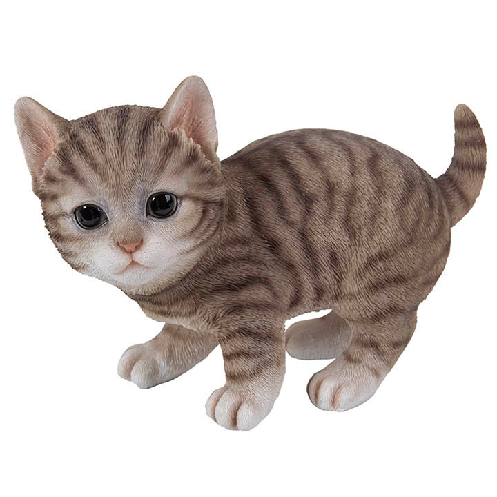 kitten playing figurine