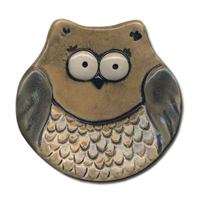 ceramic owl tea bag holder spoon rest