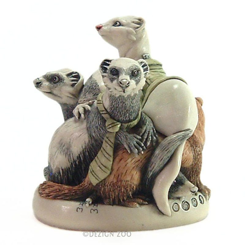 harmony kingdom ferret box figurine