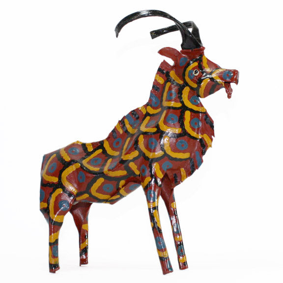 recycled oil drum gazelle figurine