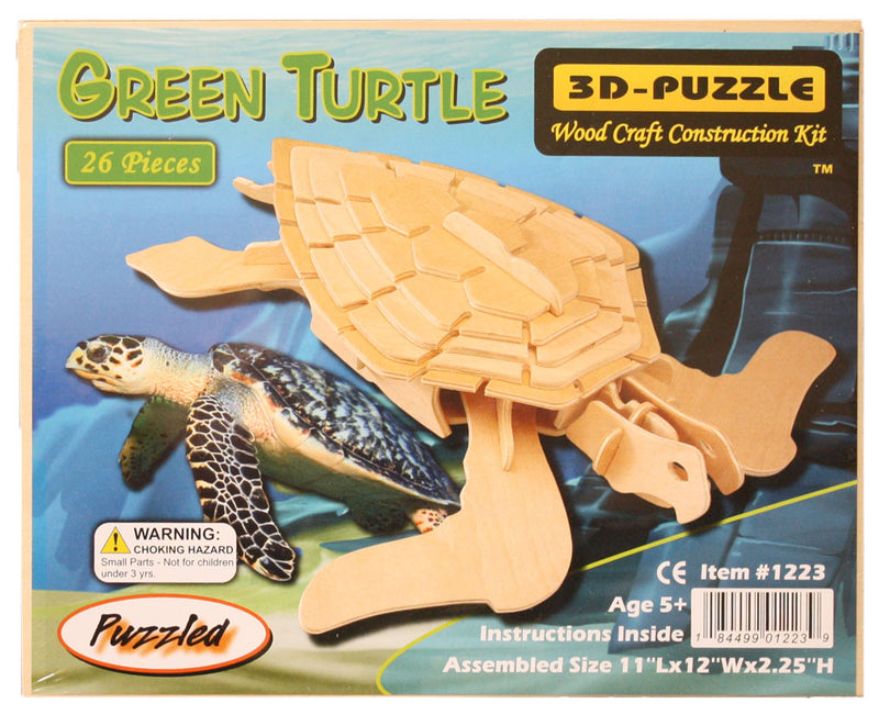 1223 Wooden Sea Turtle puzzle package