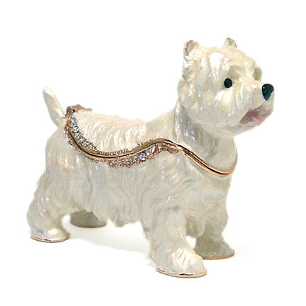 bejeweled west highland terrier box