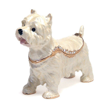 bejeweled west highland terrier box right side view
