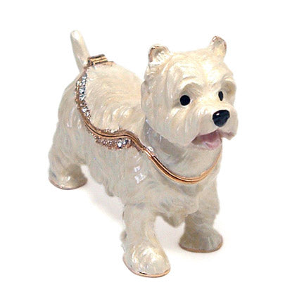 bejeweled west highland terrier box front view