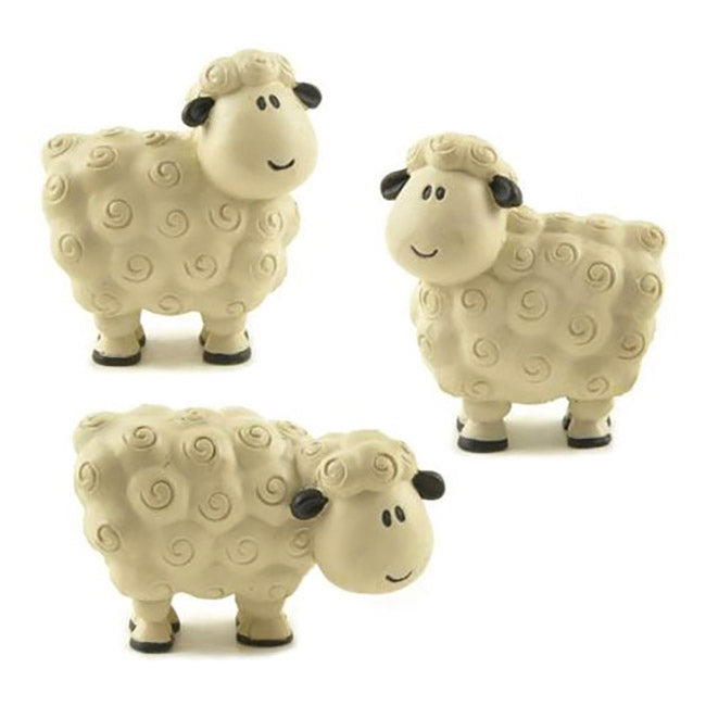 blossom bucket mini white sheep figurines