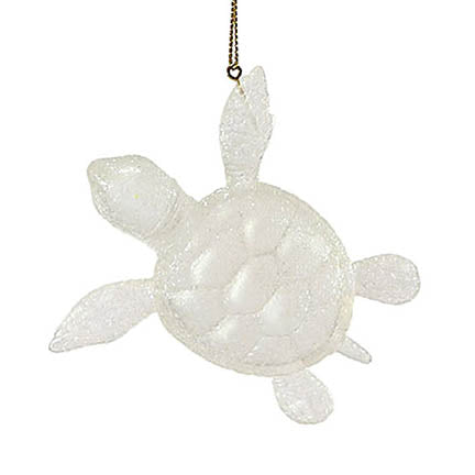 dept 56 white faux sea glass turtle ornament