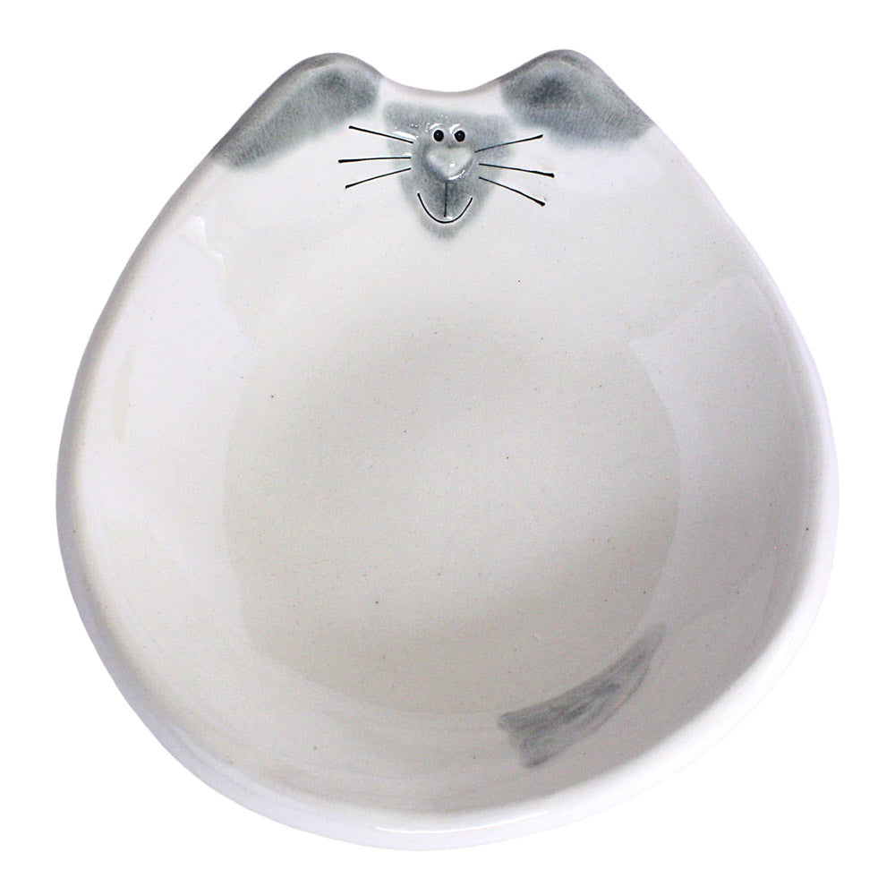 ceramic siamese cat feeding dish
