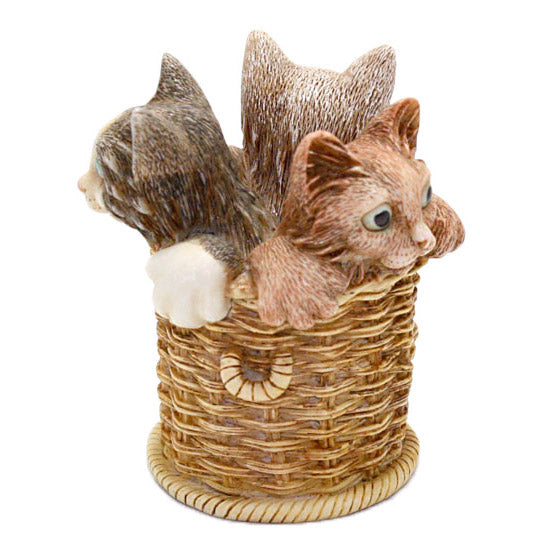 harmony kingdom wicker and whisker kittens in basket view 4