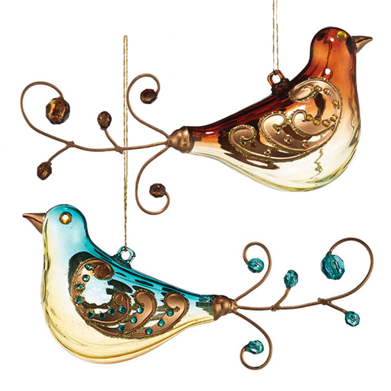 department 56  jeweled wire bird ornaments