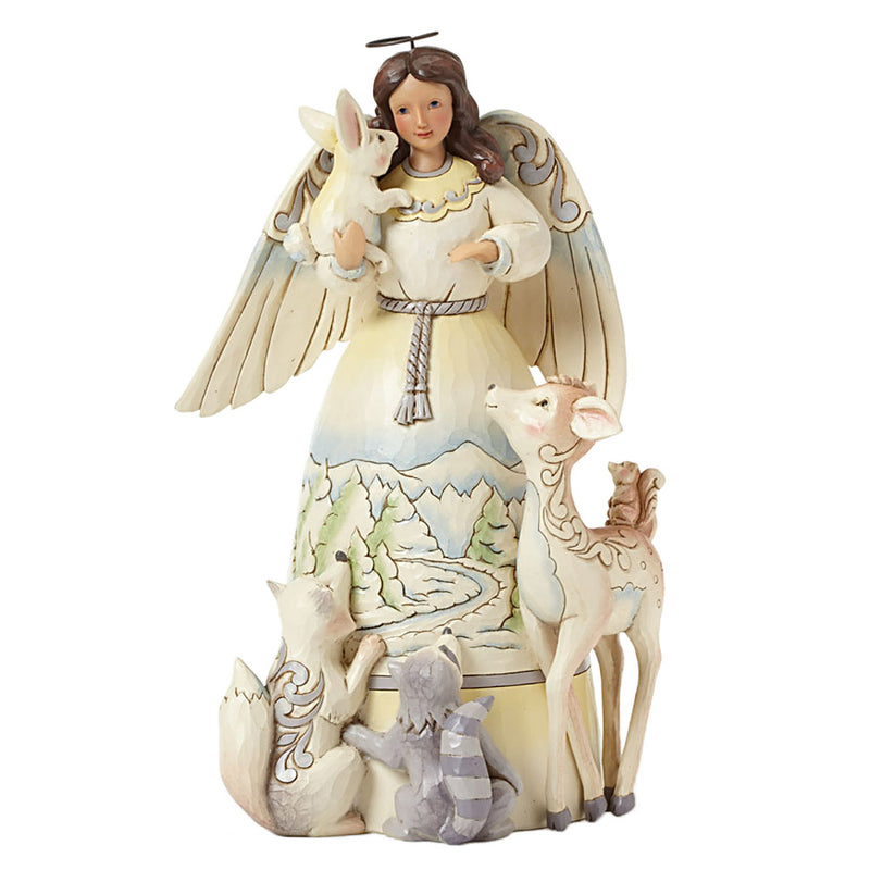 jim shore woodland angel with animals figurine