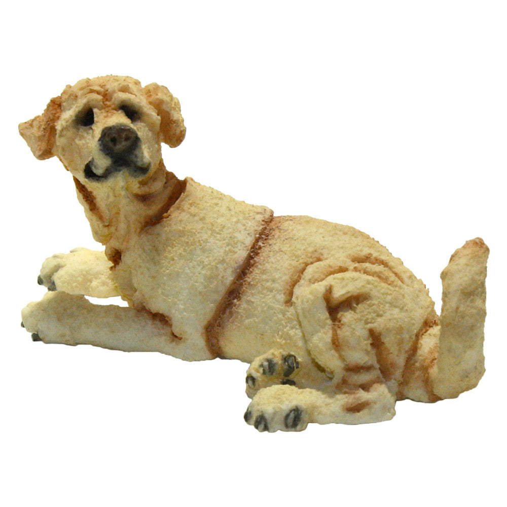 a breed apart mini yellow lab figurine