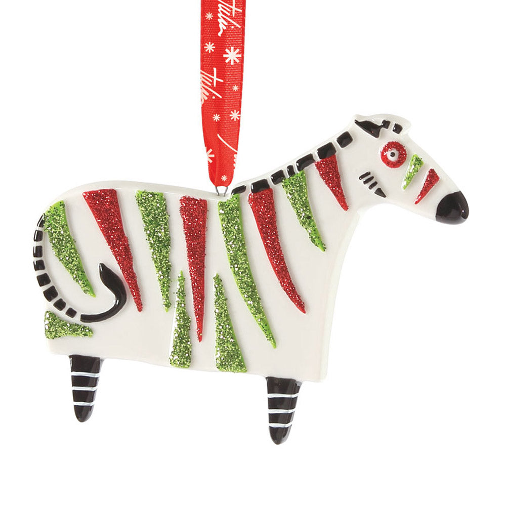 dept 56 party animalz bas-relief zebra ornament