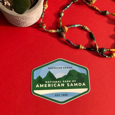 National Park of American Samoa Sticker