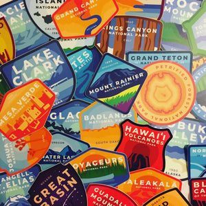All National Park Stickers