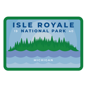 Isle Royale Vinyl Sticker