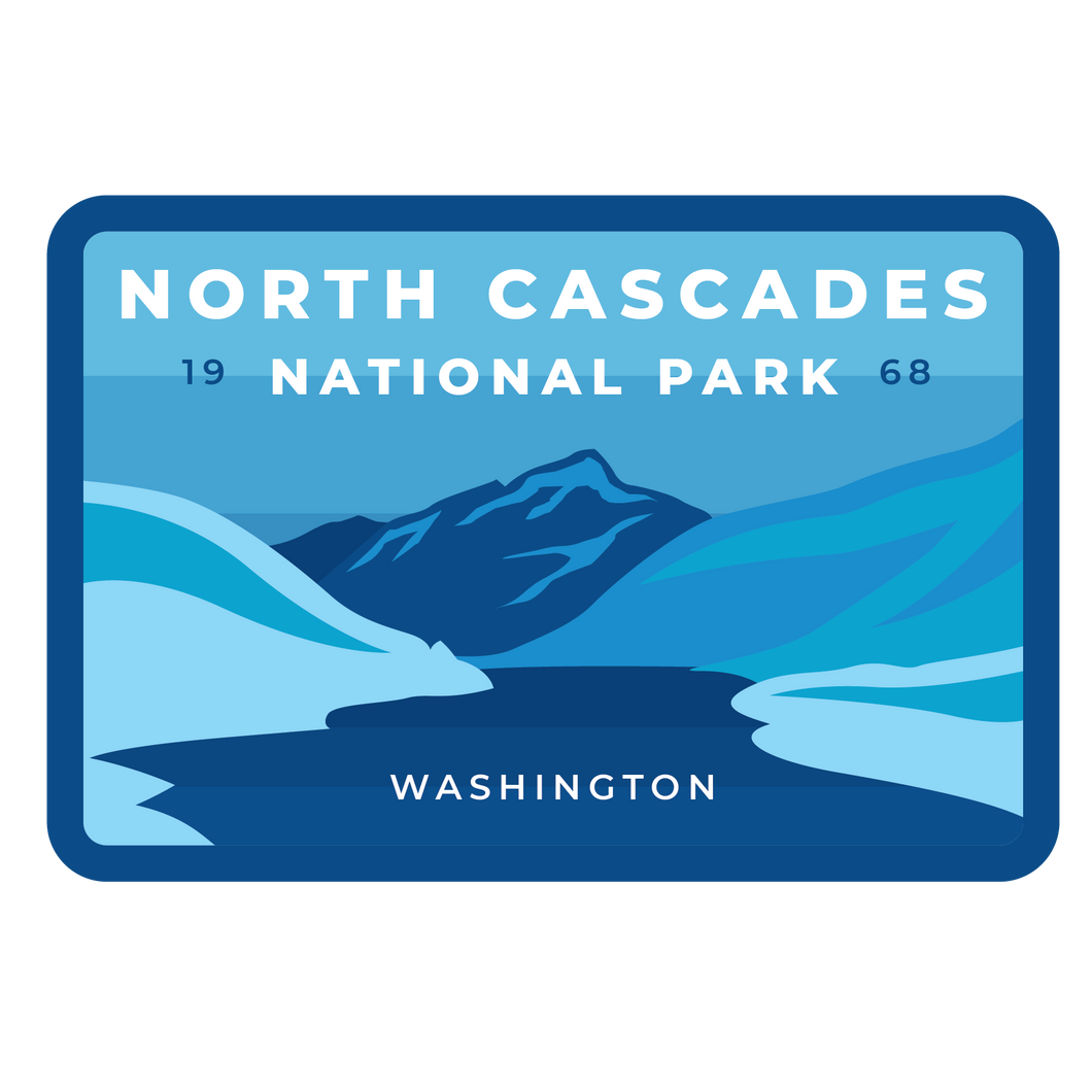 North Cascades Vinyl Sticker